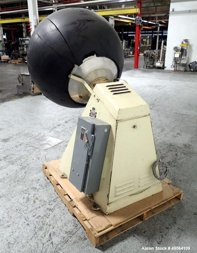 "Used- Stokes 42"" Coating Pan, Model 100VS, Stainless Steel Construction. 42"" Inner diameter, 26"" diameter opening, 37"" lip h..."