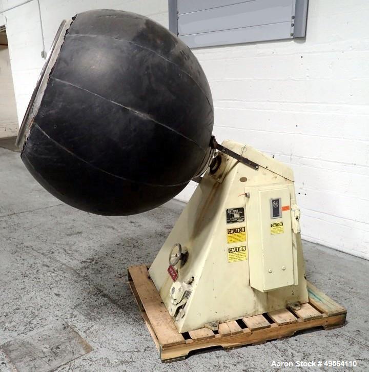 """Used- Stokes Coating Pan, Model 900-300-001, Stainless Steel Construction. 42"""" Inner diameter, 26"""" diameter opening, 39"""" lip..."""