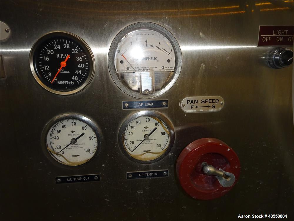 "Used- Thomas Engineering Coating Pan, Model ""Accela-Cota"""