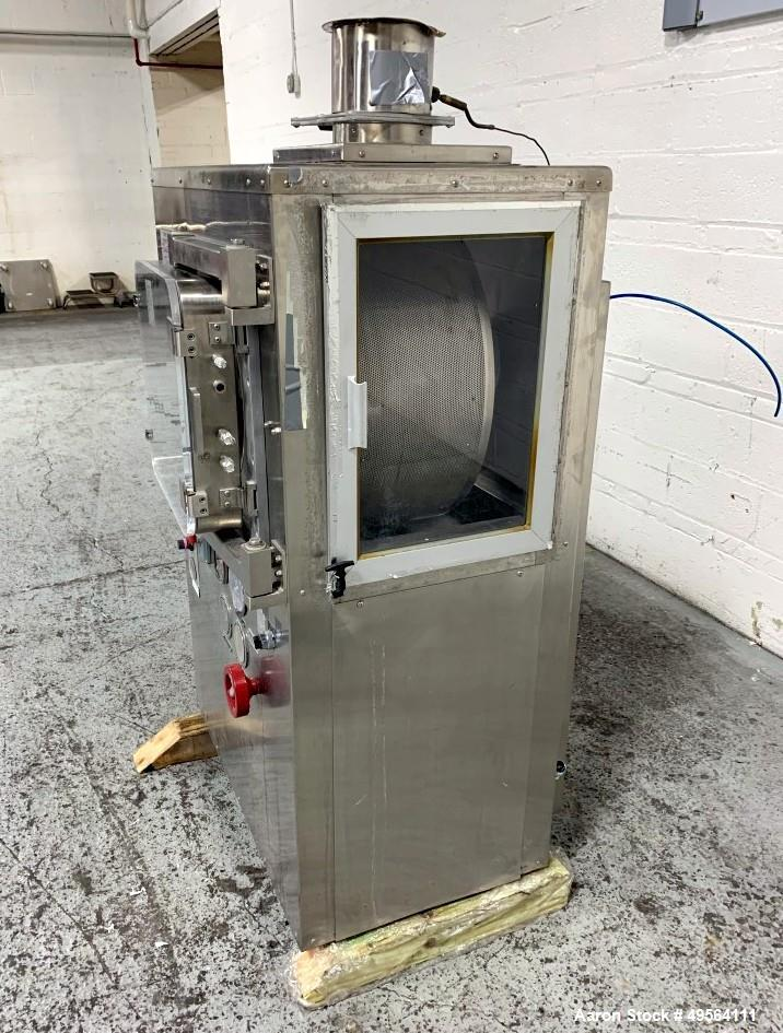 "Used- Thomas Accela Cota 24"" Coating Pan, Model 24-III, Stainless Steel Construction. Top vented. Serial# 24-320."