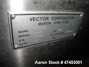Used- Vector Freund Hi-Coater Coating Pan