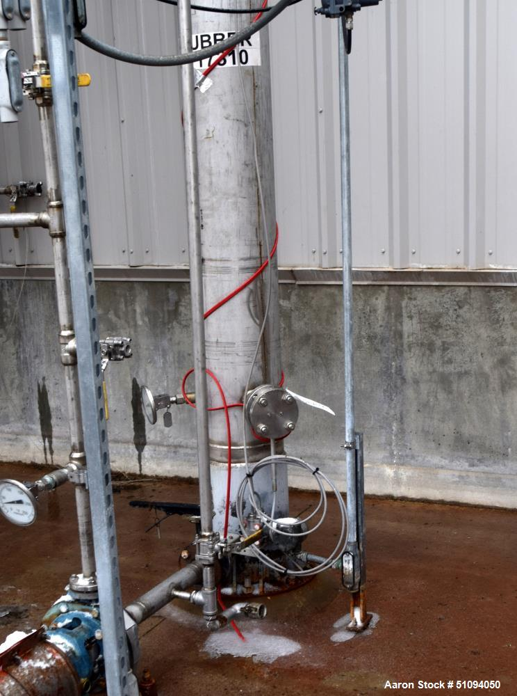 """Used- Scrubber Column, Stainless Steel, Vertical. (3) Bolt together sections approximate 10"""" diameter x 20' tall.** This wil..."""