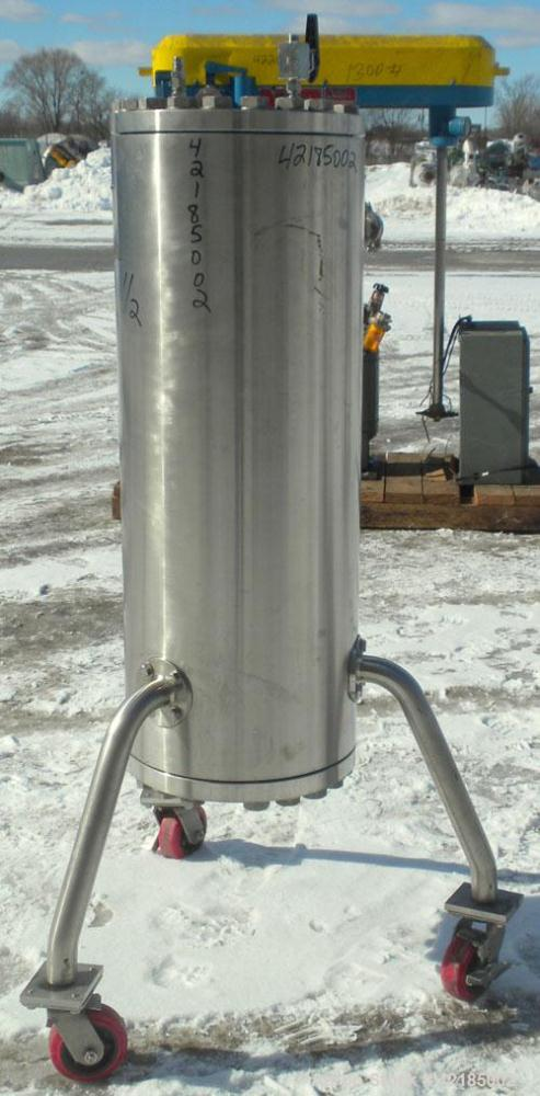 Used- Stainless Steel Technikrom High Pressure Liquid Chromatography Column, Mod