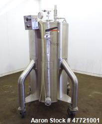 "Used- VHM Maskinfabrik BioProcess Column, 316L Stainless Steel, Vertical. Approximate 23.62"" diameter x 51"" straight side, f..."