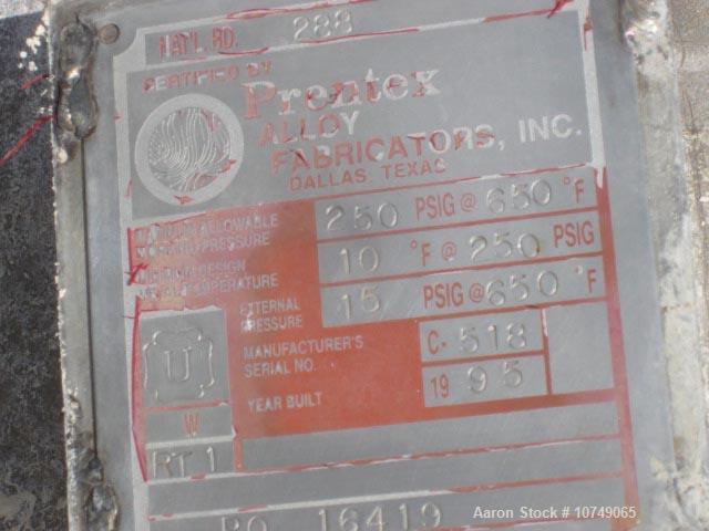 Used-Prentex Alloy Process Condensate Stripper.  Built in 1995.  304 stainless steel, 250 psi/fv @ 650 Deg. F. National Boar...