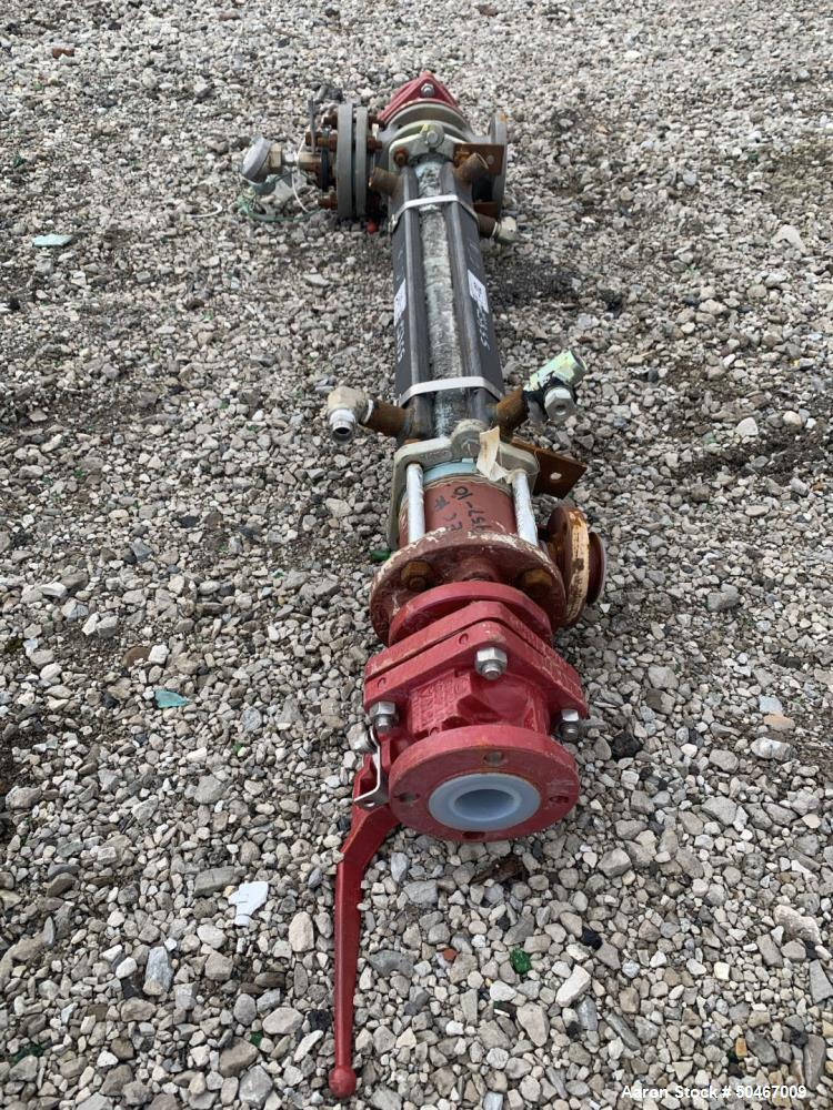 """Used-6"""" PFA lined column, jacketed."""