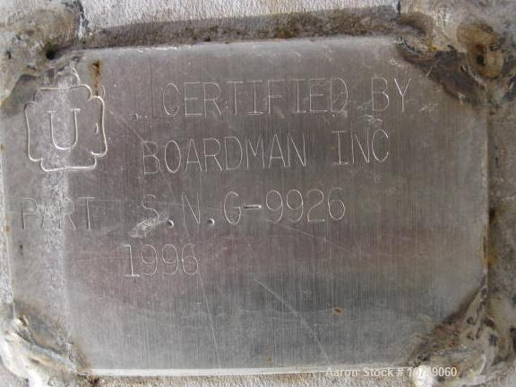 Used- Stainless Steel Wyatt and Boardman MEK Heavy Ends Removal Column
