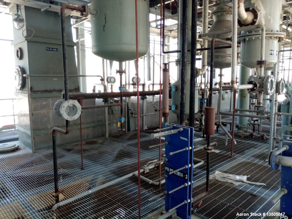 Used- Desmet 100-125 TPD, Solvent Extraction Plant. Complete with preparation equipment. Plant was designed for direct extra...