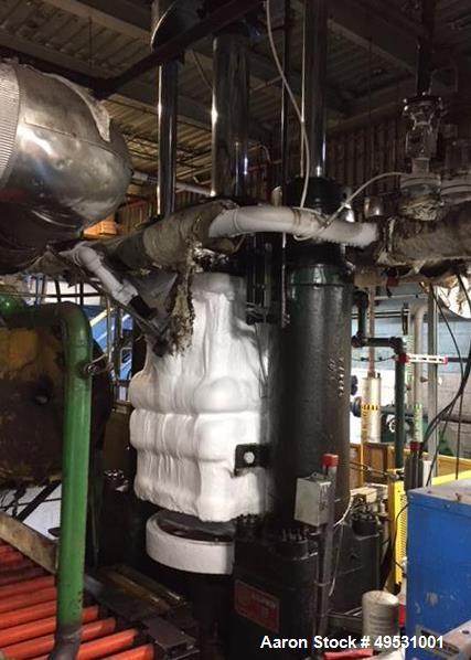 Used- 250 Ton Dry Ice Machine. Includes: (2) Baldwin block presses. (2) Jones Superior quarter block saws. Custom built conv...