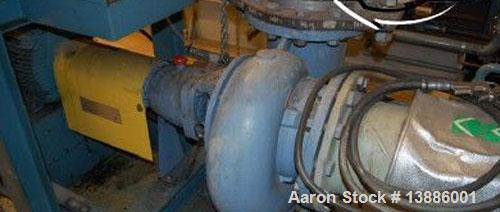 Used-ASEA/Stal Heating Pump Plant with 2 stage turbo compressors, 19 mw. Mfg 1984. Refrigerant 134. Electric motors: 2 pcs s...