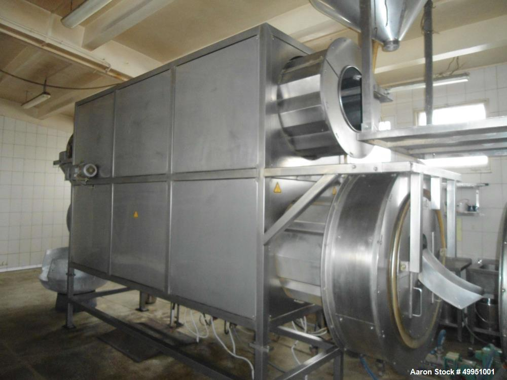 Used Schaaft Technologie GmbH Coating/Drying/Roaster/Cooling plant/line, type 800 PTEF for the  production of sweet cereals ...