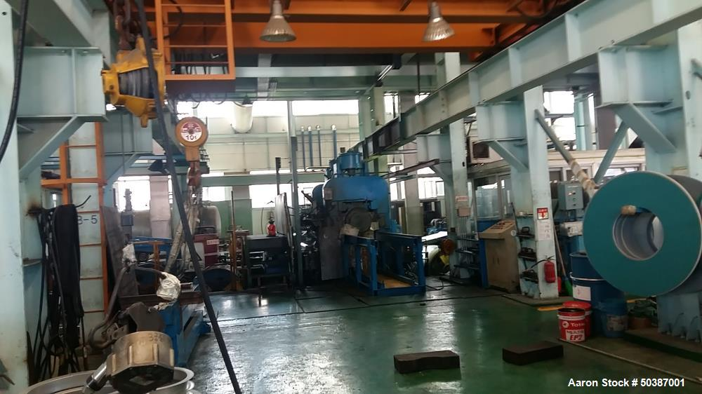 "Used- Continuous Galvanizing Line, 1250 mm (48.75"")"