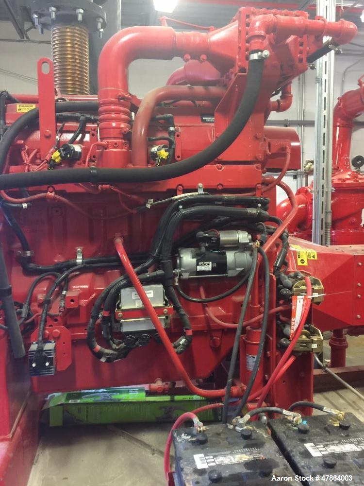 Used- Clarke Stationary Fire Pump Service Station