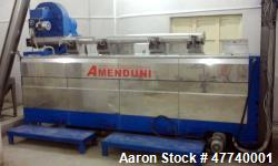 Used- Amenduni Olive Oil Line. 3 Ton/hr. Includes: (2) Amenduni separators (2400 Lt/hr), decanter 902S, hummer mill that can...