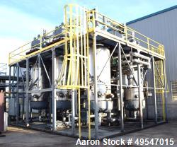 Used-SRS Resin Based Pre Treatment Systems, Designed to lower FFA (Free Fatty Acids). Consists of (4) resin tanks, (2) flash...