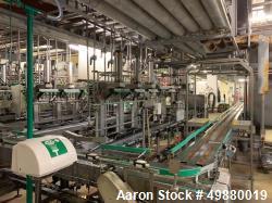 Used-Keg Plant consisting of: (1) Leifeld & Lemke depalletizer for 2 x 6 pcs of kegs, 500 kgs/hr. incl. double forklift devi...