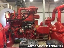 Used- Clarke Stationary Fire Pump Service Station