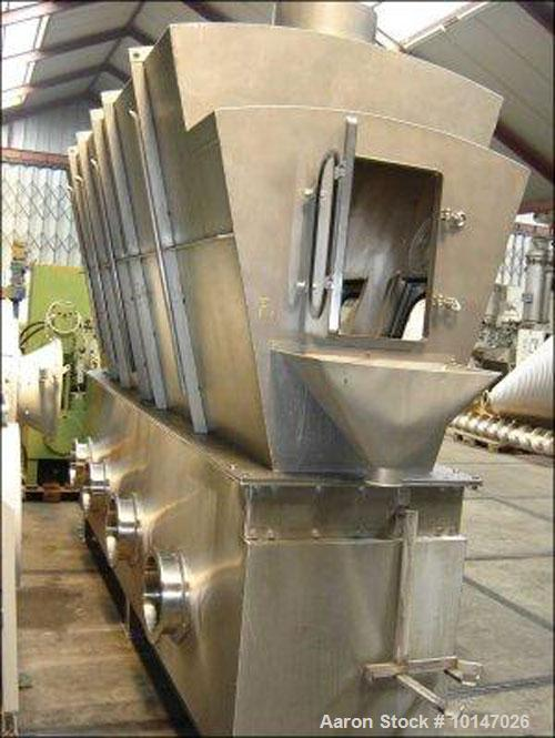 Used-Schugi Process Engineers Mixer/Agglomerator System with a capacity of 29,040 - 53,760 lbs/hr (13.200 m3/hr and 15.800 m...