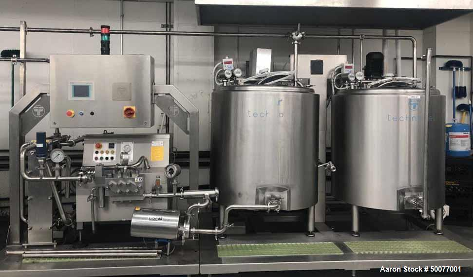 Used- Complete Ice Cream Processing Line.