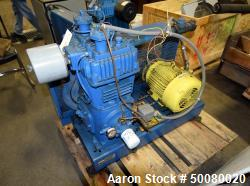 Quincy 2 Stage Air Cooled Compressor, Model 340, Size 5.25 x 3 x 3.5. Driven by a 10hp motor. Seria...