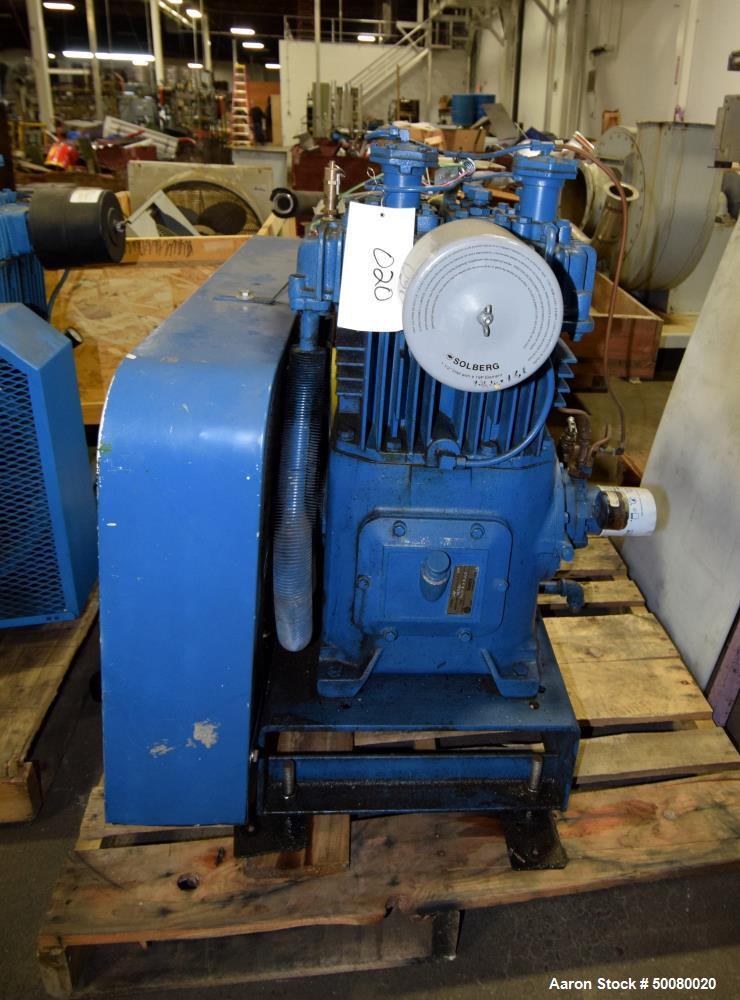 Used- Quincy 2 Stage Air Cooled Compressor, Model 340, Size 5.25 x 3 x 3.5. Driven by a 10hp motor. Serial# 412616.