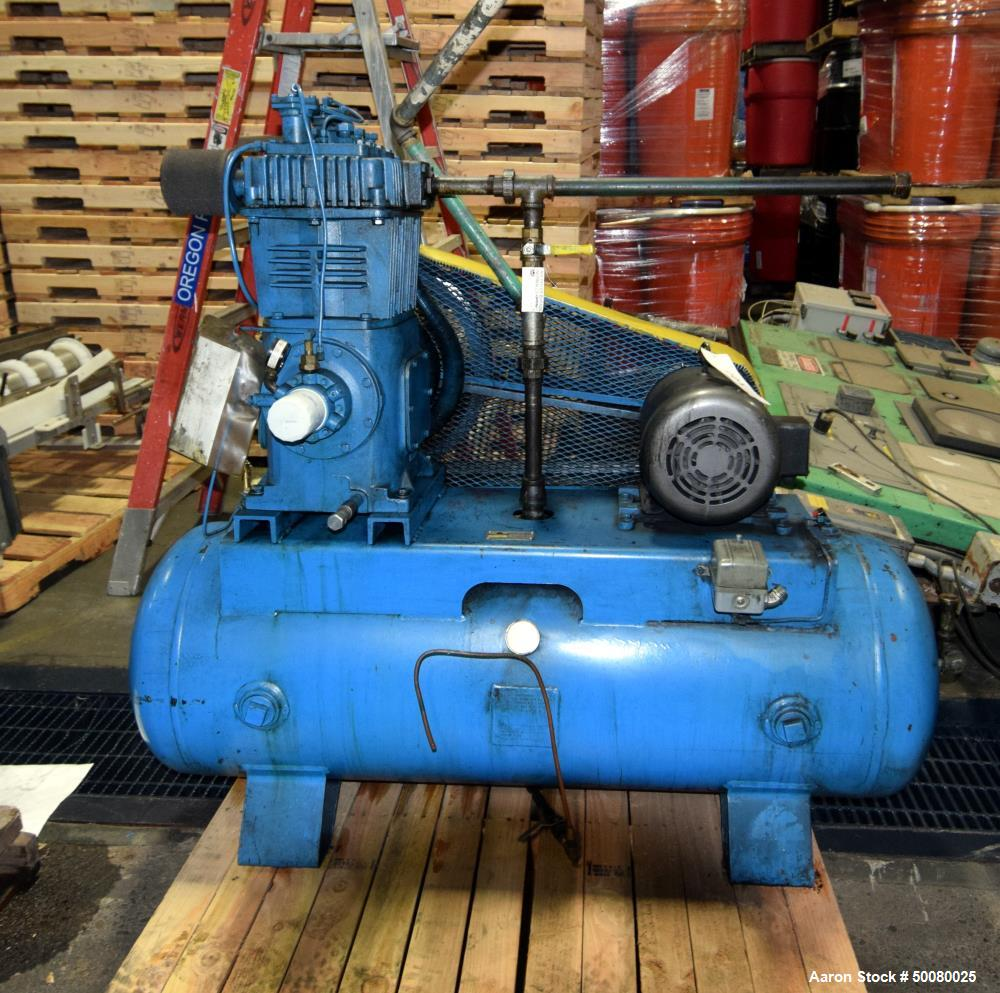 Used- Quincy 2 Stage Air Cooled Compressor, Model 340
