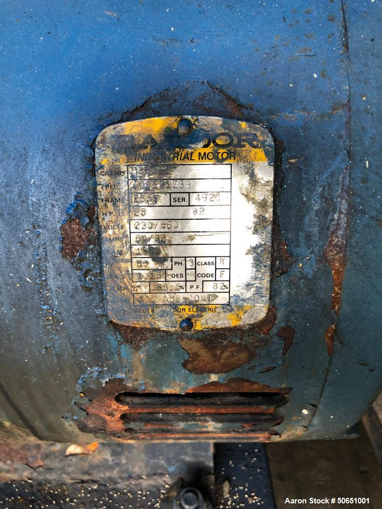 Used- 3500 Gallon Air Receiver with Quincy Two Stage Water Cooler Compressor