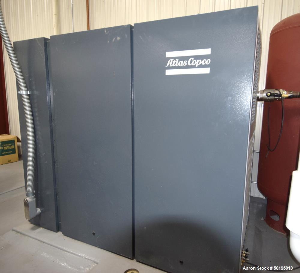 Used-Atlas Copco Oil-Injected Rotary Screw Compressor, Model GA75VSF. Rated 518.5 CFM at 185 psi, 100hp motor, running time ...