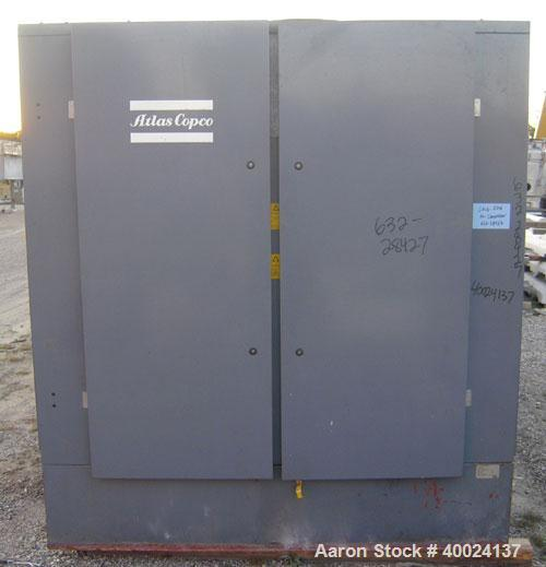 Used- Atlas Copco 2 Stage Rotary Screw Compressor, Model ZR5-61. Water cooled, 1600 SCFM at 125 psi at 1800 rpm. Driven by a...