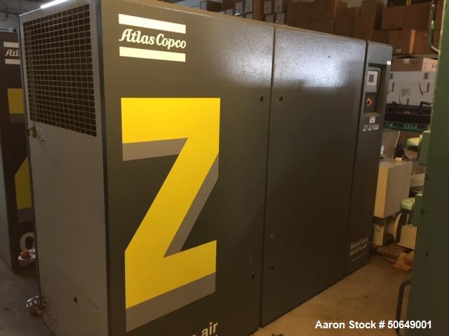 Used- Atlas Copco Air Compressor, Model ZT30