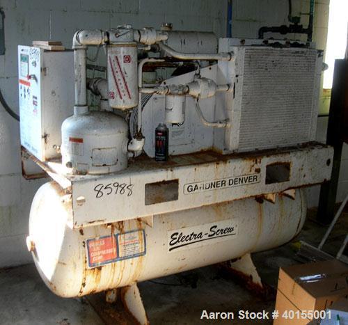 Used Gardner Denver Rotary Screw Tank Mounted A