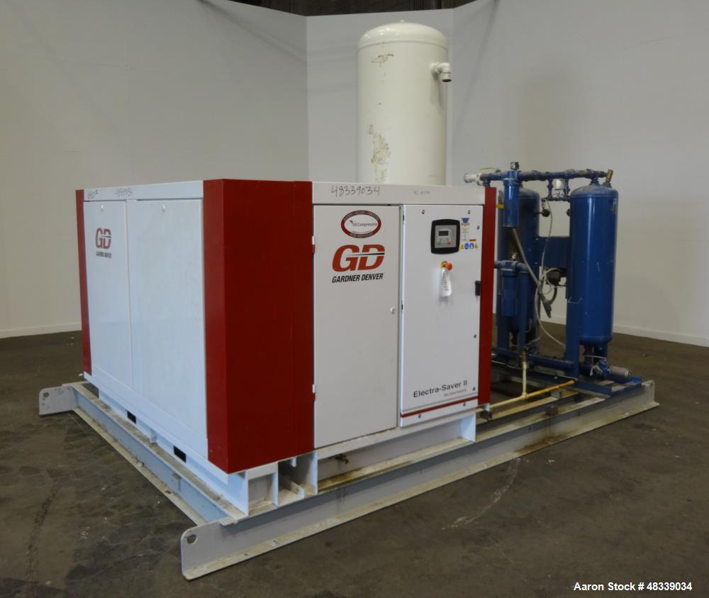 used gardner denver 100 hp electra saver ii air rh aaronequipment com electra saver ii compressor manual electra saver ii service manual