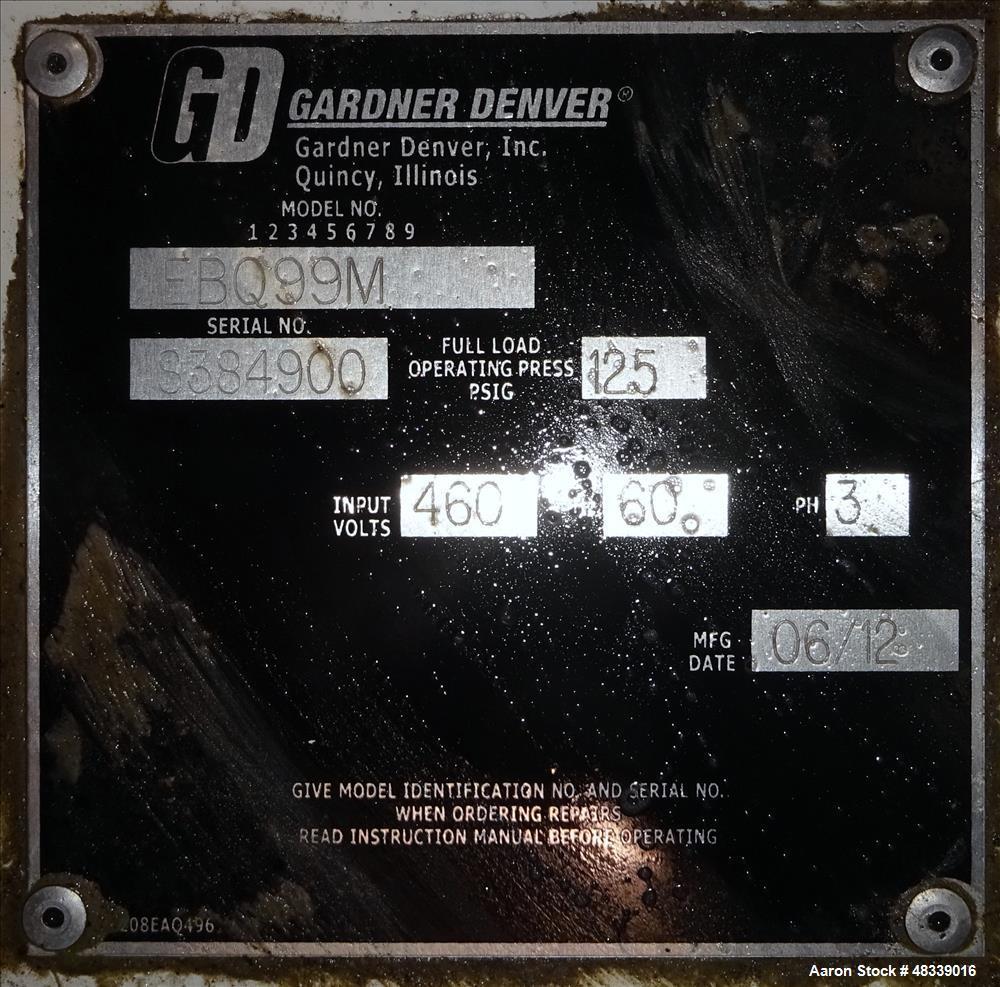 Used Gardner Denver Electra Saver Ii Air Cooled Motor Wiring Diagrams Rotary Screw Compressor