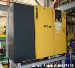 Used- Kaeser Compressor, Model ASD25T. Approximate 72 cfm, driven by a 25hp motor, serial# 1848. Includes a built in dryer, ...
