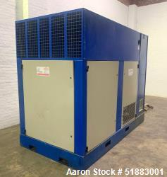 Used-Quincy Single Stage, Positive Displacement, Fluid-flooded Rotary Screw Air Compressor with Variable Frequency Drive, Mo...