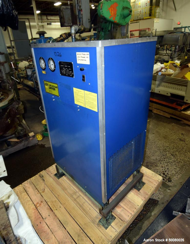 Used- Zurn Compressed Air Dryer, Model R15A. Continuous duty capacity- inlet air 100 degrees F., 90 scfm at 100 psi., R12 re...