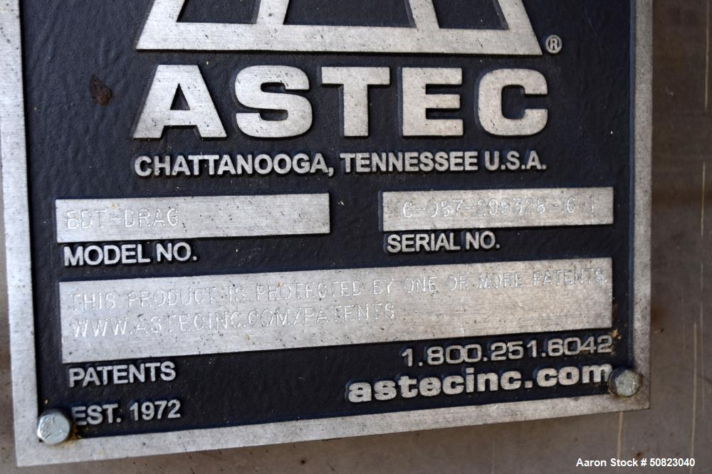 Used- Astec Chip Drag Conveyor, Model BTD Drag
