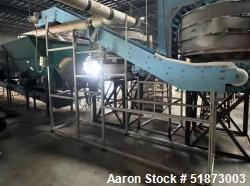 Used-Dynamic Conveyor Corp DynaClean Sanitary Vertical Incline Conveyor
