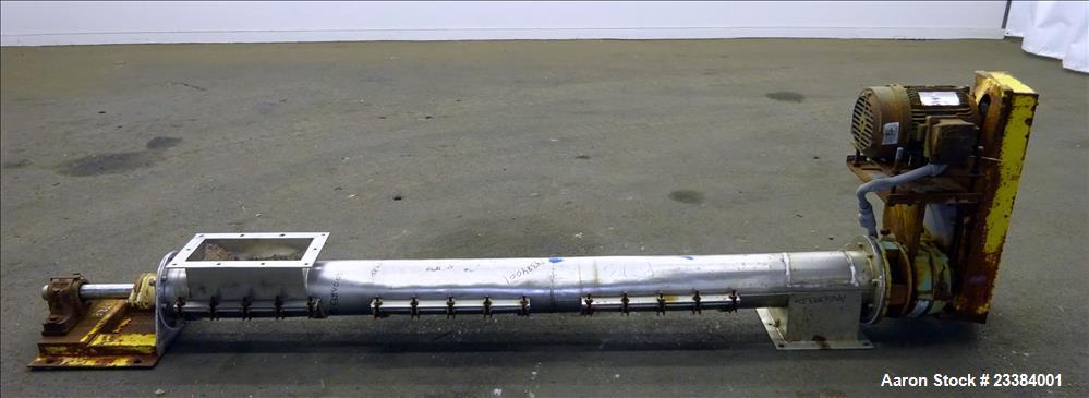 Used- Screw Conveyor, 304 Stainless Steel.