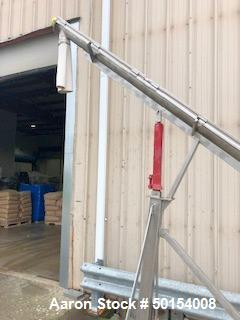 Used- S. Howes Inclined Screw Conveyor, Model 4SC16, Stainless Steel.