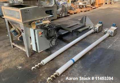 Used- AMS Twin Flexible Auger Feeder, Model TFA-800