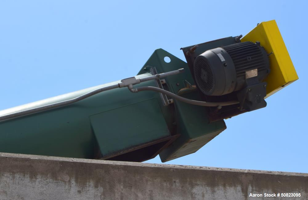 Used- Continental Enclosed Tube Inclined Screw Conveyor