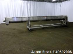 Used- Martin Conveyor Division Screw Conveyor, 304 Stainless Steel.