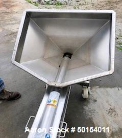 """Used- S. Howes Inclined Screw Conveyor, Model 6SC20, Stainless Steel. Approximate 6"""" diameter x 20' long screw. 8' discharge..."""