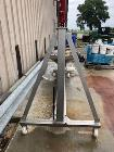 Used- S. Howes Inclined Screw Conveyor, Model 6SC20, Stainless Steel. Approximate 6