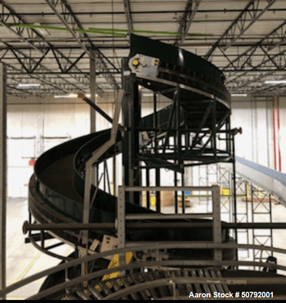 Used- Transnorm Spiral Incline Conveyor