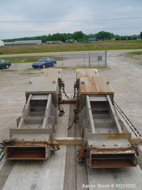 "Used-24"" Wide x 14' Long Eriez Electro-Magnetic vibrating feeder. Vibrating feeder / conveyor has two Eriez electro-magnetic..."