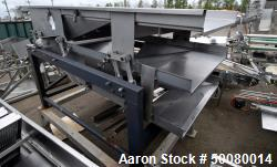 "Used- Commercial Double Deck Vibratory Conveyor, Stainless Steel. Top deck approximate 48"" wide x 96"" long, lower deck appro..."