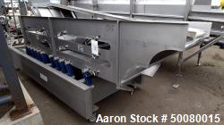 "Used- Key Technologies Triple Deck Sizing Vibratory Conveyor, Model 4333624-1, Stainless Steel. Top deck approximate 36"" wid..."