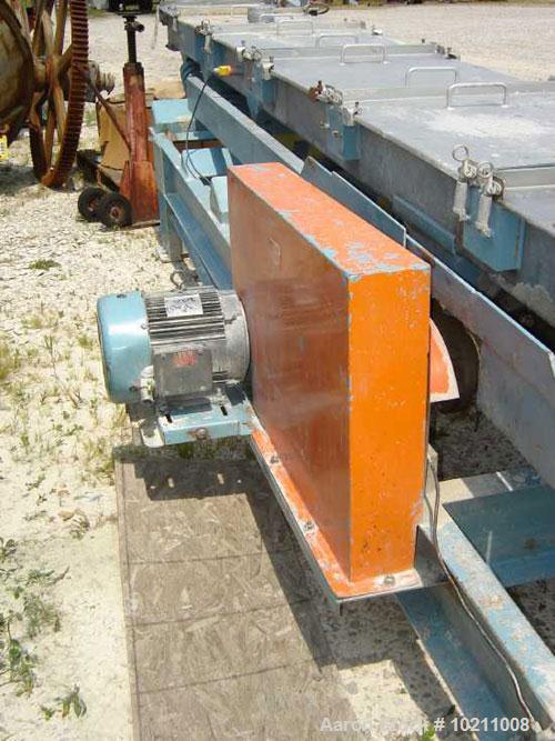 "Used-24"" Wide x 29"" Long Stainless Steel Covered Vibrating Incline Conveyor, model VC-24SD-31B, manufactured by Professional..."